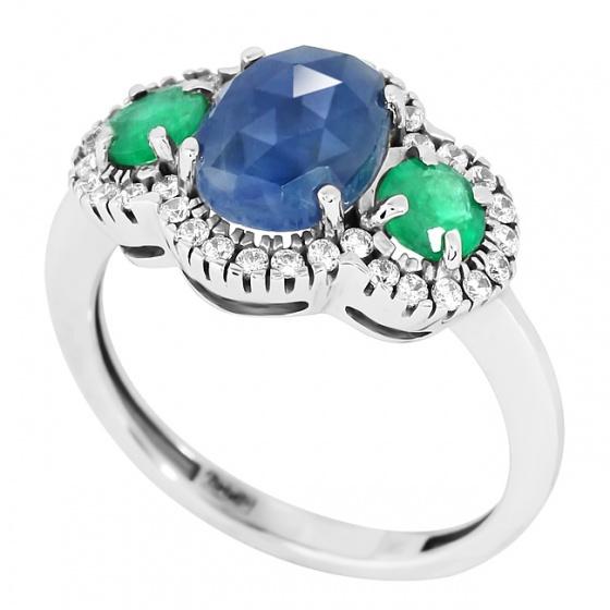 Купить кольца из белого золота недорого в Москве по каталогу